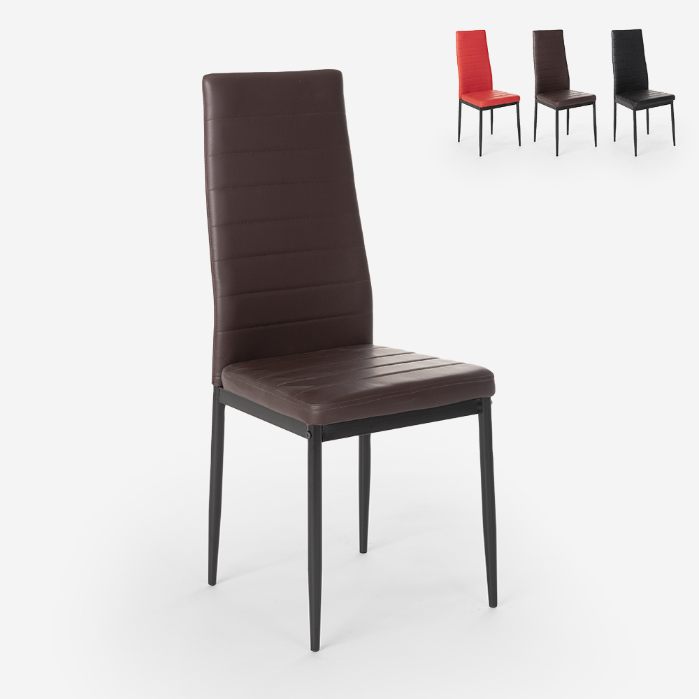 Moderni muotoiltu pehmustettu tuoli keittiön ruokasaliravintolaan Imperial Dark