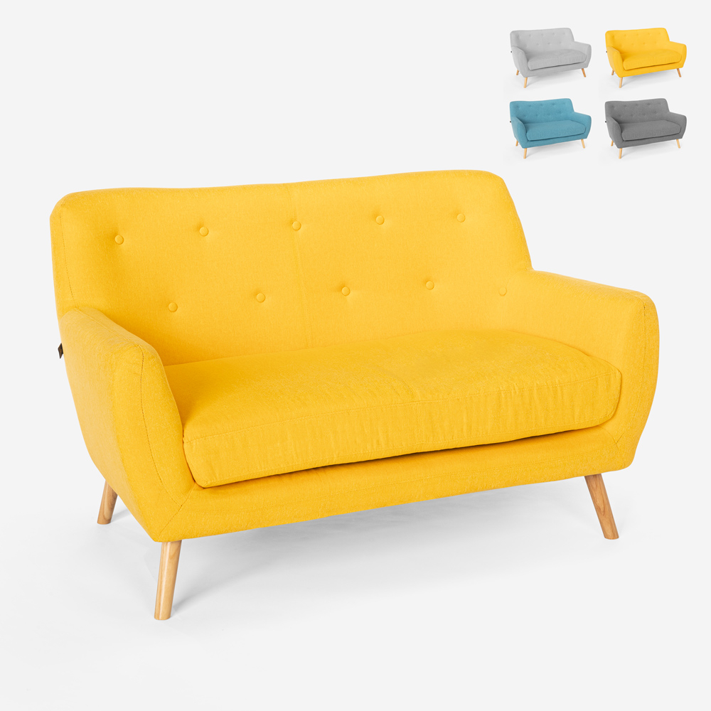 2 -istuttava sohva modernista skandinaavisesta kankaasta Irvine