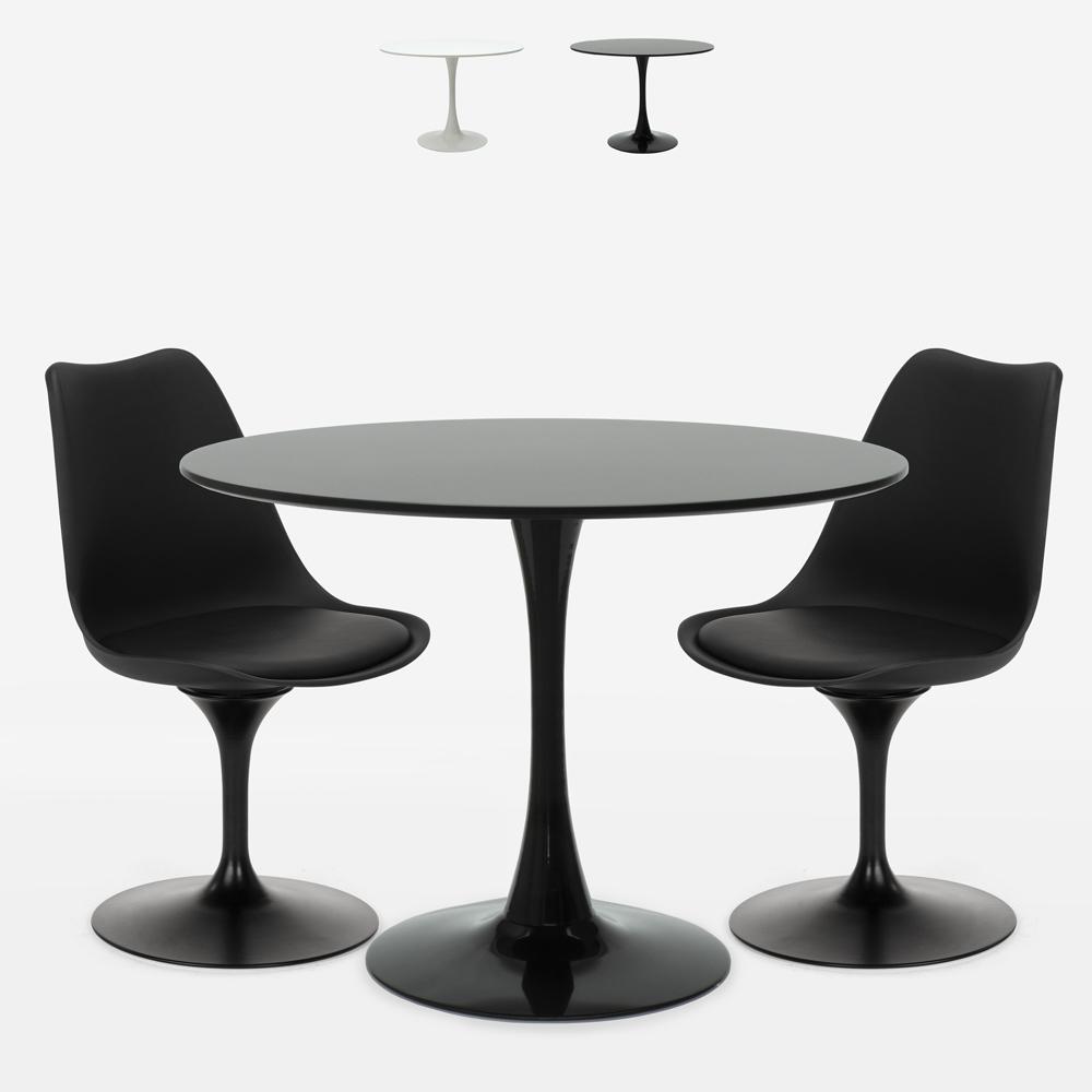 Pyöreän pöydän setti 80cm 2 tuolia design Tulip moderni skandinaavinen tyyli Aster